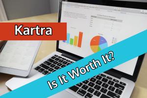 laptop showing kartra stats