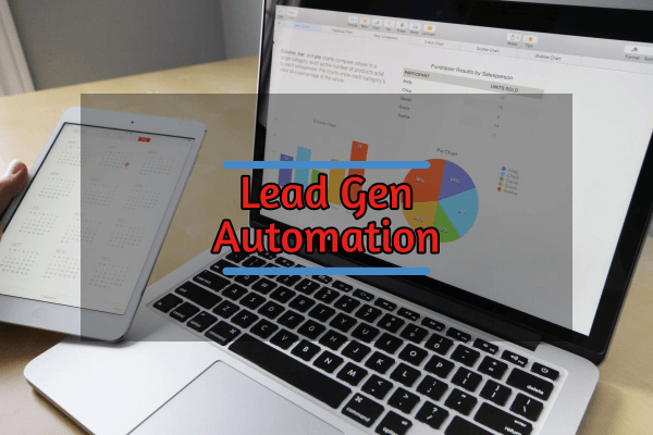 Lead gen automation on a laptop