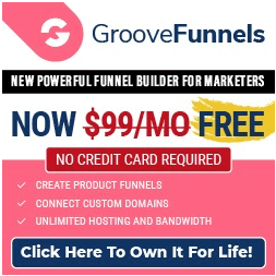 GroovePages free account banner
