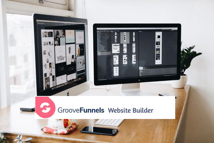 GrooveWebsite builder - two computers